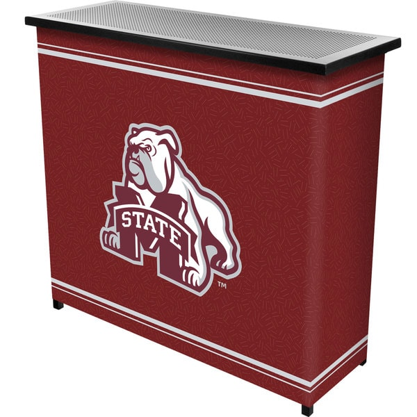 Mississippi State University 2 Shelf Portable Bar w/ Case