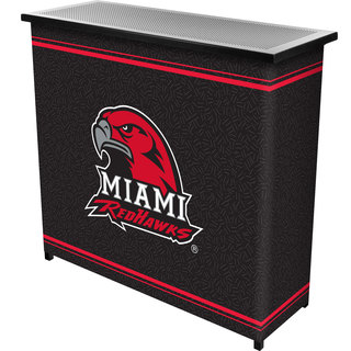 Miami University, Ohio 2 Shelf Portable Bar w/ Case