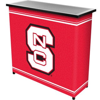 North Carolina State 2 Shelf Portable Bar w/ Case