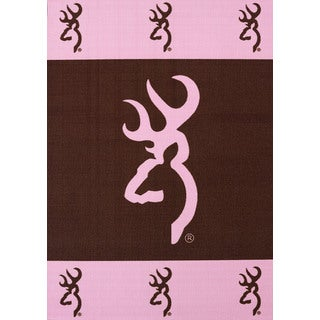 Browning Buckmark Pink Accent Rug (1'8 x 2'7)