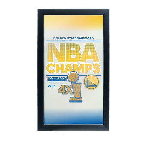 Golden State Warriors Framed Logo Mirror - 2015 NBA Champs