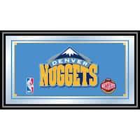 Denver Nuggets NBA Framed Logo Mirror
