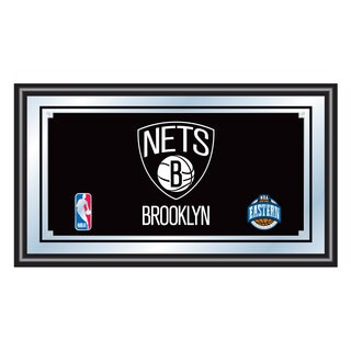 Brooklyn Nets NBA Framed Logo Mirror