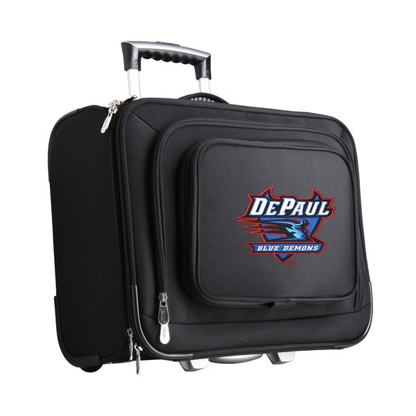 Denco Sports Legacy NCAA Depaul Blue Demons Carry On 14-inch Laptop Rolling Overnight Tote