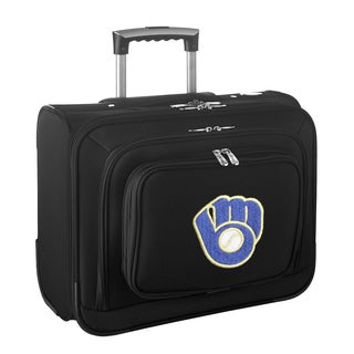 Denco Sports Legacy MLB Milwaukee Brewers Carry On 14-inch Laptop Rolling Overnight Tote