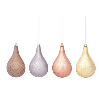 Flat Drop Ornament (Set of 4)