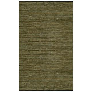"Green Matador Leather Chindi (30""x50"") Rug"