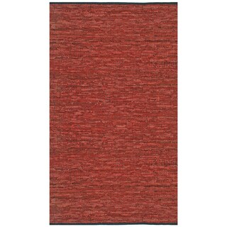 "Copper Matador Leather Chindi (21""x34"") Rug"
