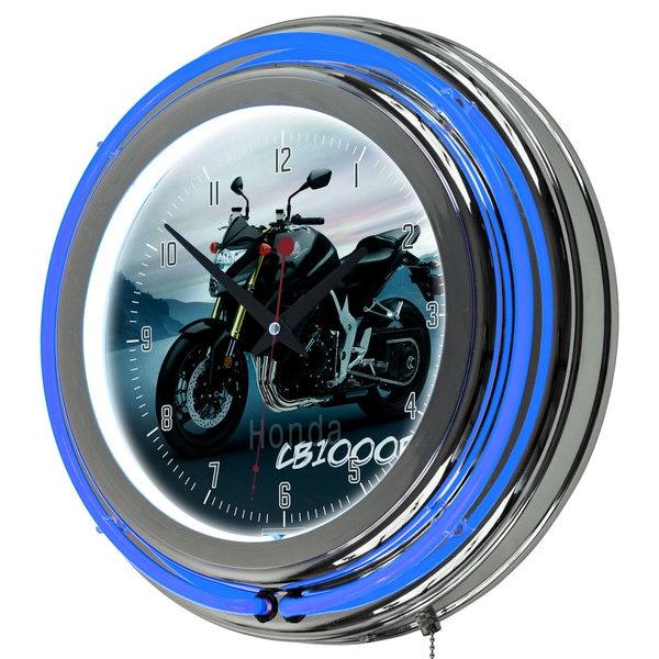 Honda Chrome Double Ring Neon Clock