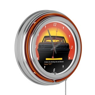 Pontiac GTO - Time & Distance - Double Ring Neon Clock