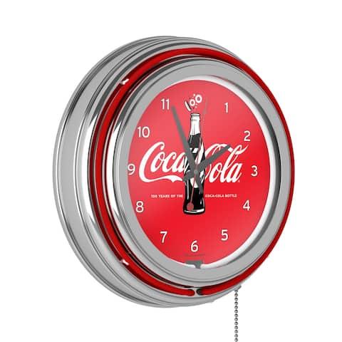 Coca-Cola Retro Neon Clock - 100th Anniversary of the Coca-Cola Bottle - Coca-Cola Retro