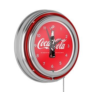 Coca-Cola Retro Neon Clock - 100th Anniversary of the Coca-Cola Bottle