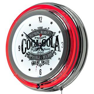 Coca Cola Brazil 1886 Neon Clock (Option: Vintage Neon Clock)