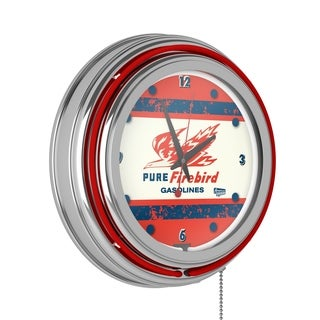 Pure Oil Chrome Double Rung Neon Clock