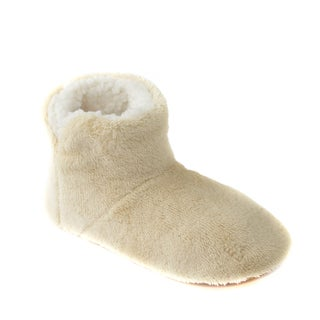 Leisureland Women's Fleece Lined Solid Color Bootie Slippers