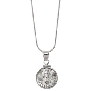American Coin Treasures Silver Philippines 10 Centavos Sterling Silver Pendant Coin Jewelry
