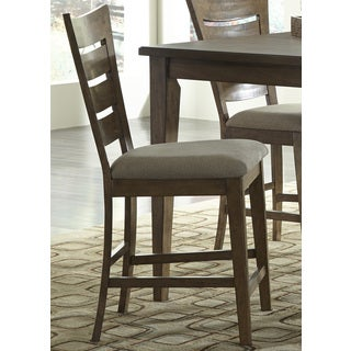 Pebble Creek Weathered Butterscotch Ladderback 24 Inch Barstool