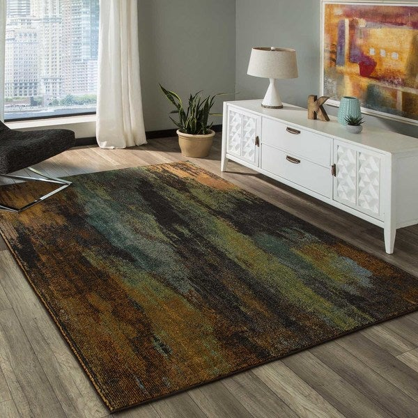 "Abode Multi Power-Loomed Mural Rug (2'3"" x 7'6"")"