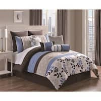 Eve Floral 10 Piece Reversible Comforter Set