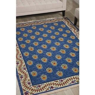 Nourison Nourmak Encore Blue Rug (5'6 x 7'5)