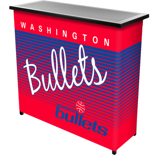 Washington Bullets Hardwood Classics NBA Portable Bar w/Case