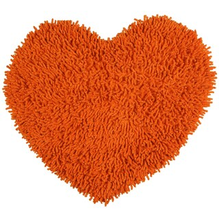 "Copper Shagadelic Chenille Twist Shag Heart - 20x24"""