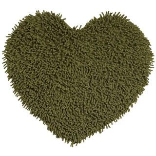 Moss Shagadelic Chenille Twist Shag Heart - 2' x 2'