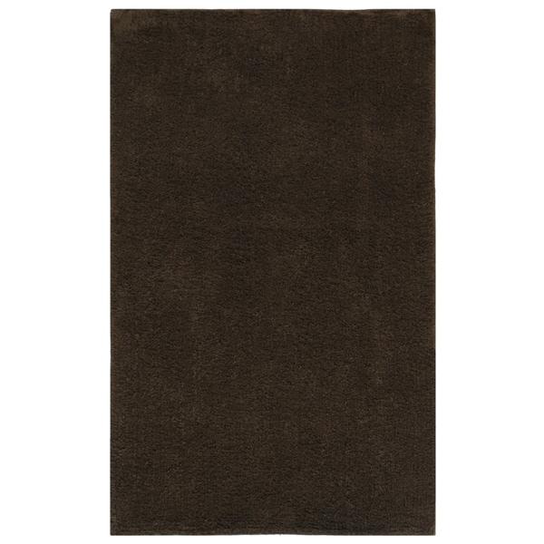 "Plush Pile Chocolate (21""x34"") Bath Rug"