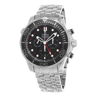 Omega Men's 212.30.44.52.01.001 'Seamaster300 Divers' Black Dial Stainless Steel GMT Swiss Automatic Watch