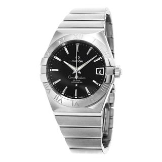 Omega Men's 123.10.38.21.01.001 'Constellation' Black Dial Stainless Steel Swiss Automatic Watch