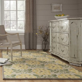 Momeni Newport Yellow Hand-Tufted Wool Rug (3'9 X 5'9)