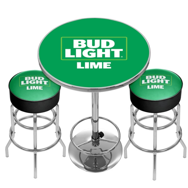 Ultimate Bud Light Lime Gameroom Combo - 2 Stools and Table