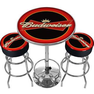 Ultimate Budweiser Gameroom Combo - 2 Bar Stools and Table|https://ak1.ostkcdn.com/images/products/10655386/P17721910.jpg?impolicy=medium