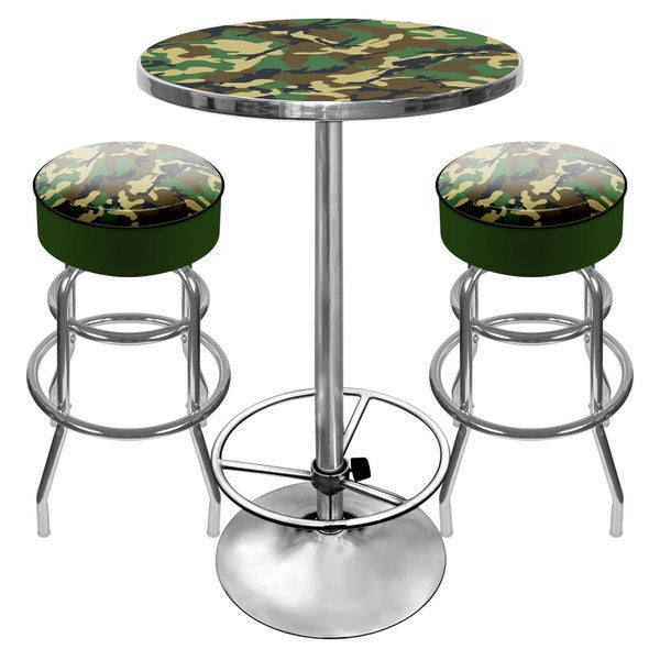 Shop Hunt Camo Gameroom Combo 2 Bar Stools And Table