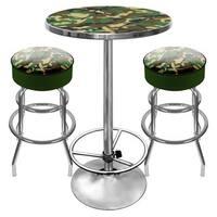 Hunt Camo Gameroom Combo - 2 Bar Stools and Table