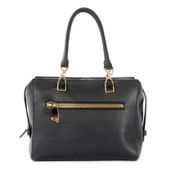 Shop Versace Collection Pebbled Leather Satchel - Free Shipping ... b26c2cd7aad65