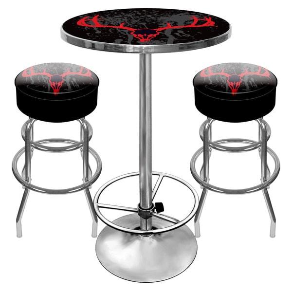Hunt Skull Gameroom Combo - 2 Bar Stools and Table