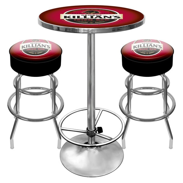 Killians Beer Gameroom Pub Table and Stools Combo