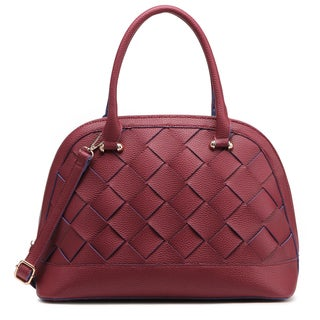 Pink Haley Helena Braided Satchel