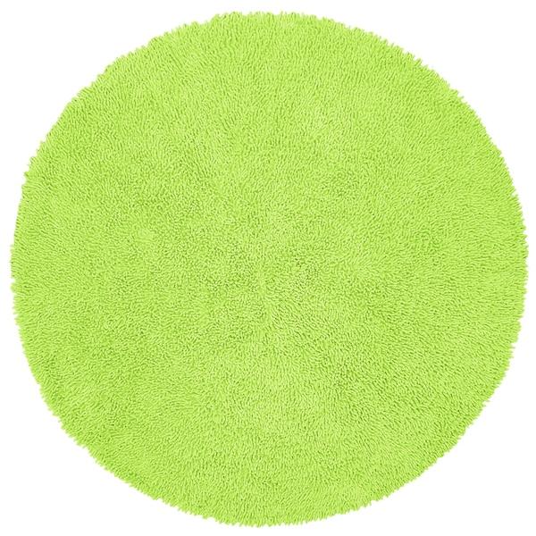 Shop Green Shagadelic Chenille Twist 2 X2 Round Shag