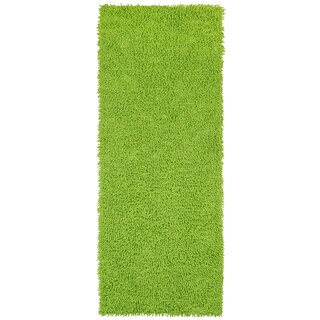 Green Shagadelic Chenille Twist (2'x5') Shag Runner