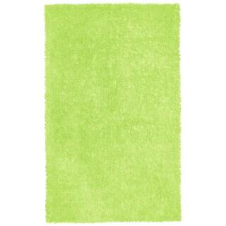"""Green Shagadelic Chenille Twist (21""""x34"""") Shag Rug"""