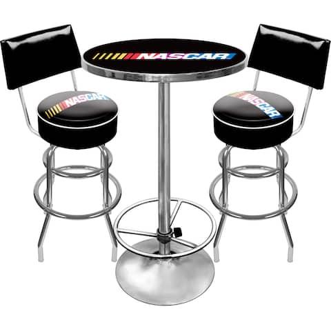 NASCAR Gameroom Combo 2 Stools w/ Back & Table