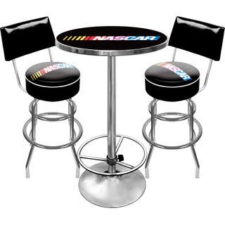 NASCAR Gameroom Combo 2 Stools w/ Back & Table|https://ak1.ostkcdn.com/images/products/10655430/P17721916.jpg?impolicy=medium