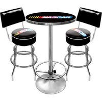 NASCAR Gameroom Combo 2 Stools w/ Back & Table