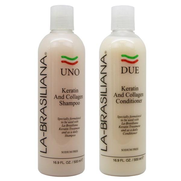 Shop La Brasiliana Uno Keratin And Collagen 16 9 Ounce Shampoo