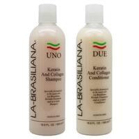 La-Brasiliana UNO Keratin and Collagen 16.9-ounce Shampoo and DUE Conditioner