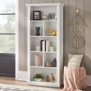 Simple Living Holland White Reversible Back Bookcase