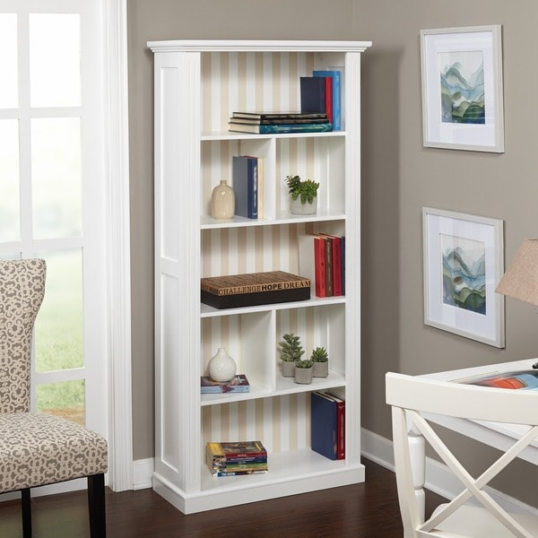 Shop Simple Living Holland White Bookcase Free Shipping