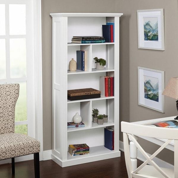 White Bookshelves: Simple Living Holland White Bookcase